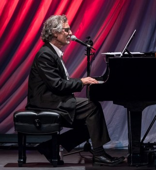 "Pianist & vocalist George Friedenthal performing at the Center for Successful Aging's ""With A Song In My Heart"" 4/1/17 The Marjorie Luke Theatre"