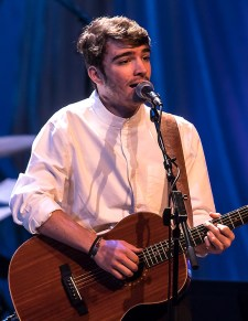 """Singer Jackson Gillies performing at the Center for Successful Aging's """"With A Song In My Heart"""" 4/1/17 The Marjorie Luke Theatre"""