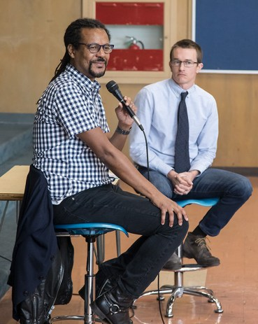 Colson Whitehead at San Marcos High school - UCSB Arts & Lectures 4/6/17
