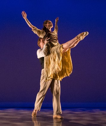 """John Piel and Meredith Harrill in William Soleau's """"Sonnets of Love & Death"""" - State Street ballet 5/12/17 The New Vic Theatre"""