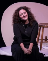 """Elaine Gale in """"One Good Egg,'"""" her play directed by Rod Lathim"""" 5/4/17 Center Stage Theater"""