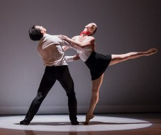 """Ryan Camou and Cecily Stewart in Kevin Jenkins's """"C'est la vie"""" - State Street Ballet 5/12/17 The New Vic Theatre"""
