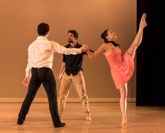 "Ryan Camou, Nick Topete & Marika Kobiashi in Kevin Jenkins's ""C'est la vie"" - State Street Ballet 5/12/17 The New Vic Theatre"