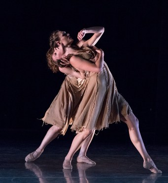 """Anna Carnes & Meredith Harrill in Gina Patterson's """"The Call"""" - State Street Ballet 5/12/17 The New Vic Theatre"""