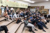 San Marcos High School vocal students applaud Roomful of Teeth - UCSB Arts & Lectures 4/26/17
