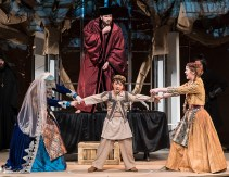 """Judgement by Chalk Circle in UCSB Theater and Dance Dept. production of Bertold Brecht's """"The Caucasian Chalk Circle"""" 5/24/17 UCSB Hatlen Theater"""
