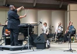 "Tyshan Sorey & ICE rehearse ""Autoschediasms for Creative Chamber Orchestra"" - the Ojai Music Festival 6/10/17 Libbey Bowl"