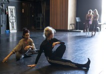 "Nicole Vaughan-Diaz & Thryn Saxon working on ""Sin Salida/In Love I Broke Beyond"" 8/11/17 The Lobero Theatre"