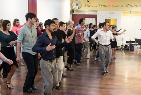 Tango Class with Esteban Moreno of Union Tanguera - Danceworks Santa Barbara 7/20/17 Yes Dance Paseo Nuevo