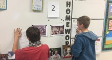 Students analyze and reflect on two contrasting pieces of art to understand their era, using their prior knowledge.
