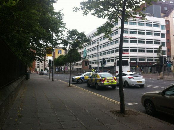 Bomb Scare in Belfast
