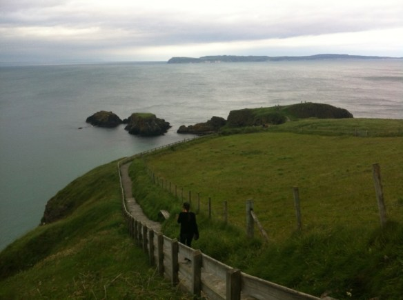 Carrick-a-Rede Rope Bridge Islay in View