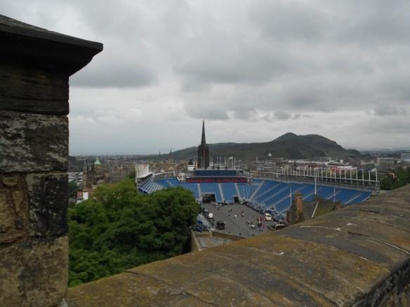 View onto Edinburgh