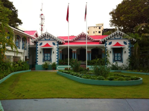 The White House of the Maldives is rather colorful!