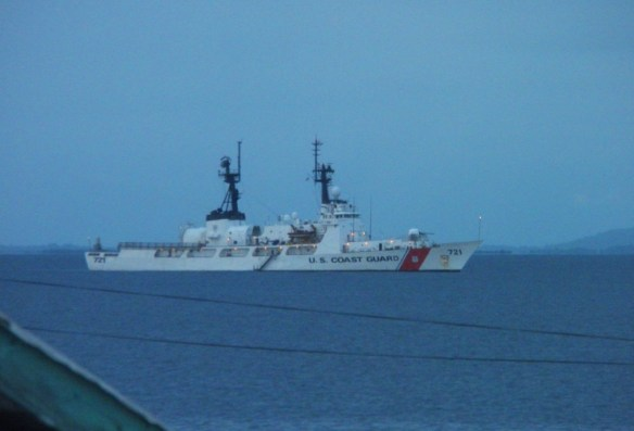 US Coast Guard as seen from our room window.