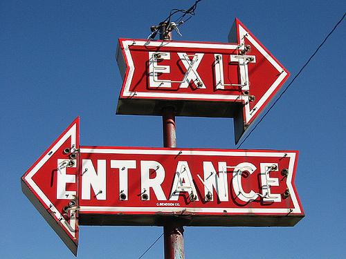 exit entrance