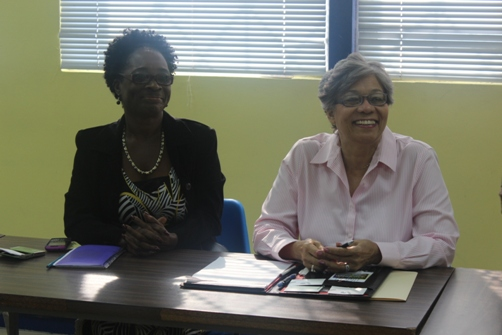 Mrs Joan Kenyon and Mrs Alicia Browne