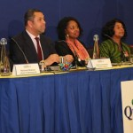 Panel (l-r): Michael Bukola, James Cleverly, Dawn Butler and Dame Doreen Lawrence. Photo courtesy David F Roberts