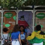 Green toilets at carnival. Photo courtesy CaribDirect