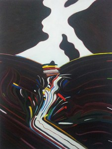 Meltdown: acrylic and oil on canvas