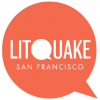 Litquake San Francisco logo, orange speech bubble