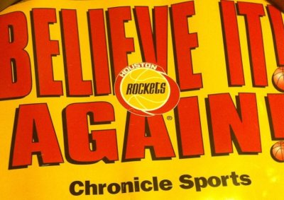 Believe It! Again! Houston Rockets Placard