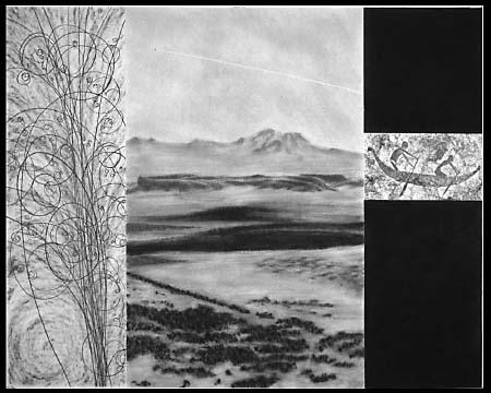 In private collection. Graphite on cotton rag. 32x40 inches
