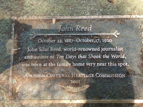 John Reed Bench plaque