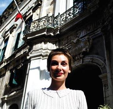 Ira Melkonyan outside Palazzo Ferreria. Photo: David Schembri