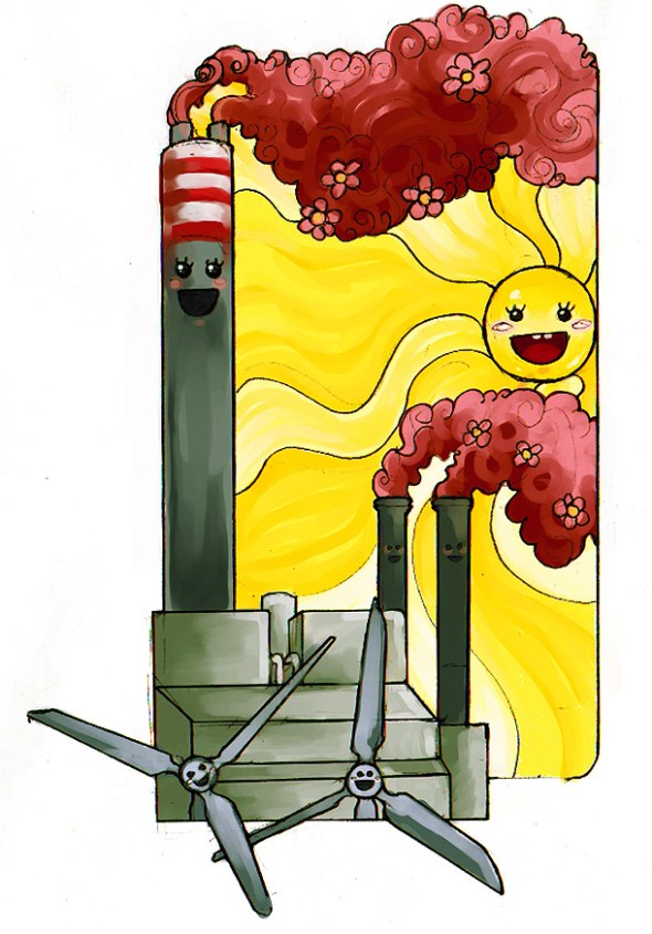 Last time I checked, Delimara wasn't being powered by sunshine and windmills. Illustration: Daniela Attard (Iella)