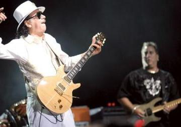 Guitar legend Carlos Santana caught in action by Matthew Mirabelli