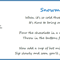 Free Printable: Snowman Soup Poem