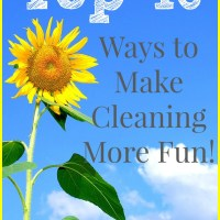 Top 10 Ways to Make Cleaning More Fun!