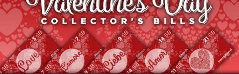 Valentine's Day Collector's Bills.