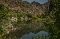 On the Gunnison River in the gorge