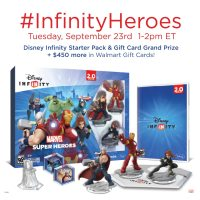 RSVP for the #InfinityHeroes Twitter Party Sept. 23 at 1pm EST