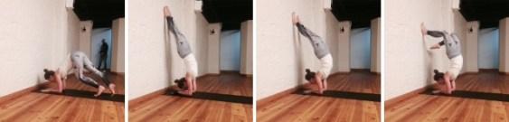 Skorpion scorpion underarmstand  yoga pose