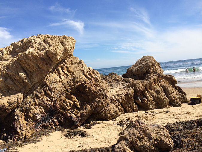 Rocky outcrop near the Crystal Cove tide pool