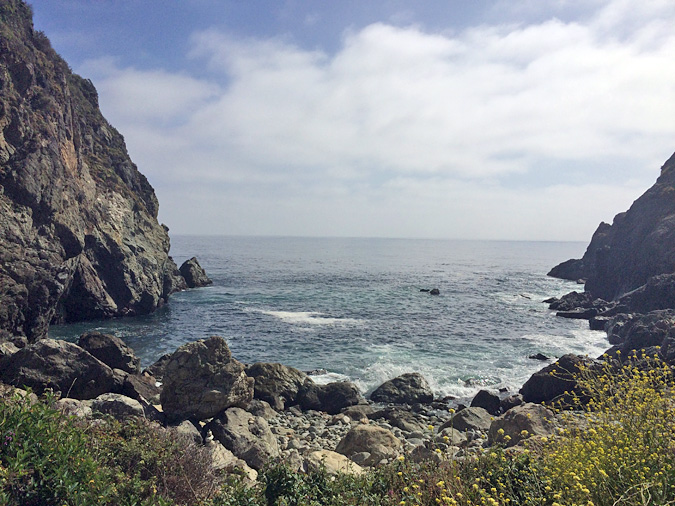 Partington Cove is tough to find, but a great spot to get down to the water