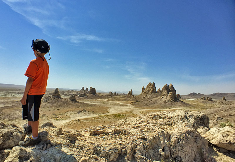 Exploring the Trona Pinnacles, Mojave Desert