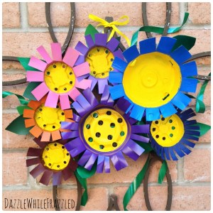 Make Flower Decor Using Plastic Nursery Pots