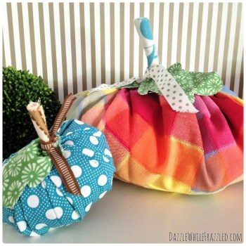 Make Fall Pumpkins Using Your Fabric Scraps in Non-Traditional Colors