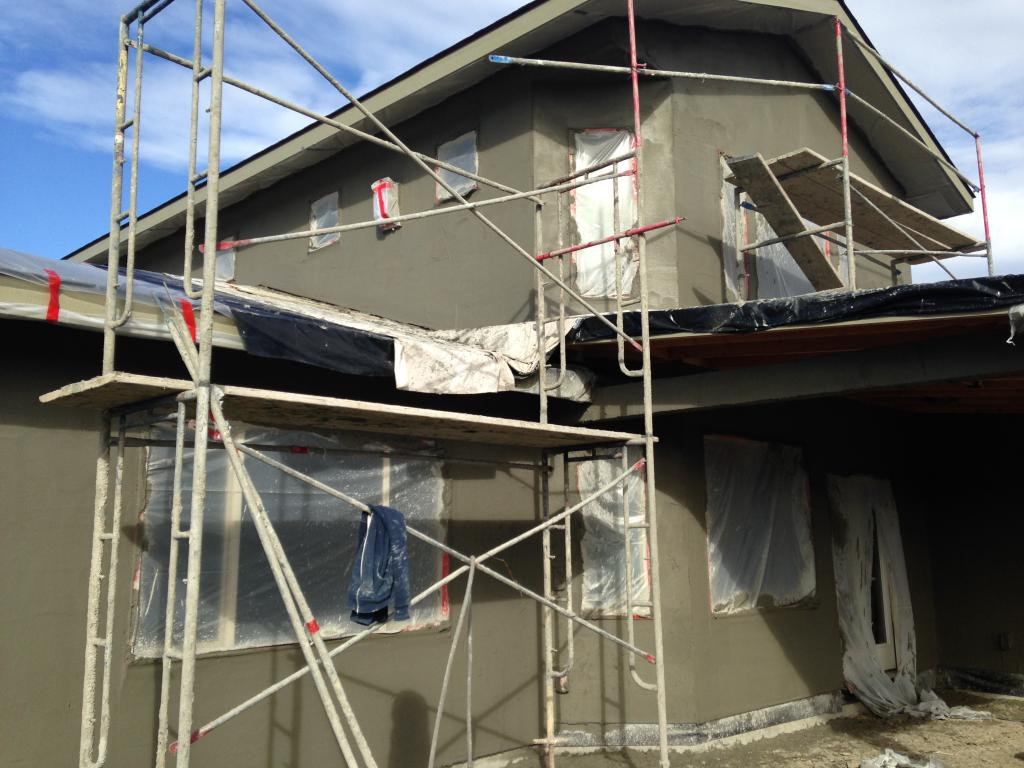 Stucco gets started early in the spring
