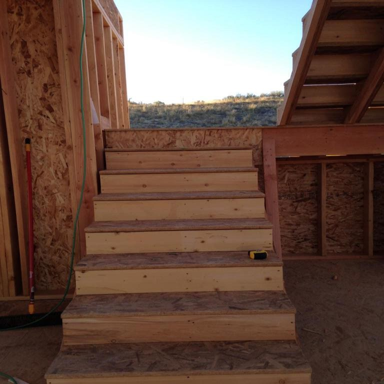 Stairs go in, making progress