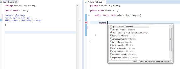 enumeration example in java