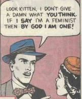 """""""Look Kitten, I don't give a damn what you think. If I say I'm a feminist then by god I am one!"""""""