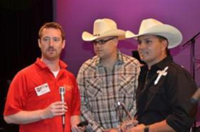 Evan Interviewing The Winners