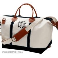 monogram monday: satchel duffel bag