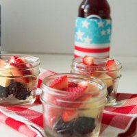 Memorial Day Fruit + Cheese Jar Salads