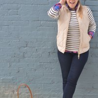 Mix Stripes and Plaid for Fall